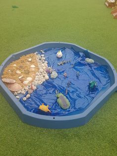 Small World Fun in an Under the Sea Tuff Tray. Small World Fun in an Under the Sea Tuff Tray. Under The Ocean, Under The Sea Theme, Ocean Themes, Beach Themes, Snail And The Whale, Under The Sea Crafts, Tuff Spot, Eyfs Activities, Tuff Tray