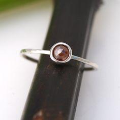 FALL SALE Rose Cut Deep Red Diamond Bloom In by kyleannemetals, $216.00
