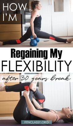 What I Do To Regain My Flexibility After 30 Years Break. This is my starting point and a little story about how I've lost this within years, and how I need it back! With determination and consistency you can improve your flexibility too. #flexibility #yoga #fitness #motivation