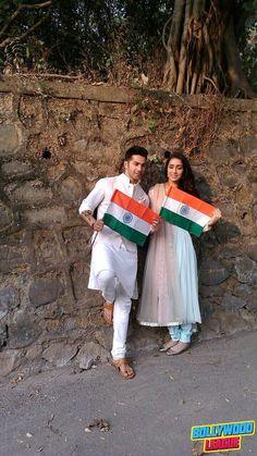 Varun Dhawan and Shraddha kapoor celebrating Republic day #bollywood bollywood #bollywood #news #photography #fashion #latest #top #india #style #beauty