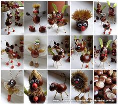 Chestnut Crafts Ideas - Nature Crafts Ideas - Fall Crafts to Make and Sell Kids Crafts, Diy Projects For Kids, Diy For Kids, Diy And Crafts, Art Projects, Autumn Crafts, Nature Crafts, Autumn Activities, Craft Activities