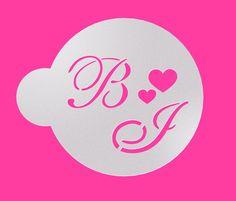 Custom Monogram Stencil, Wedding Cookie Stencil, Cake stencil, Personalized  Stencil