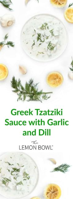 Ready in 5 minutes, this thick and creamy Greek Tzatziki is blended with cucumbers, dill, lemon and garlic to create a healthy and addictive yogurt sauce. Cucumber Dill Sauce, Greek Yogurt Sauce, Greek Yogurt Recipes, Greek Garlic Sauce Recipe, Tzatziki Sauce Recipe Greek Yogurt, Good Healthy Recipes, Vegetarian Recipes, Cooking Recipes, Easy Recipes