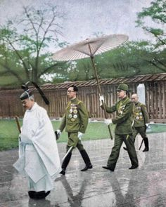 Manchukuo Emperor Puyi visiting a Shinto Shrine in Japan 1940. During Puyi's reign as Emperor of Manchukuo,he was closely watched by the Japanese, who increasingly took steps toward the full Japanisation of Manchuria, to prevent him from becoming too independent. He was welcomed by the Japanese people during his visits there, but had to remain subservient to Emperor Hirohito.