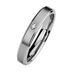 Tungsten Ring Direct - Tungsten Ring for Women, Classy Ring with CZ Stone, High Polish Step Edge, 5MM, $24.99 (http://www.tungstenringdirect.com/tungsten-ring-for-women-classy-ring-with-cz-stone-high-polish-step-edge-5mm/)