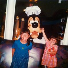 Precious, perfect memories from our first family vacation to Walt Disney World. My two daughters loved meeting the crazy and hilarious Goofy at Chef Mickey's.