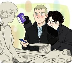 Johnlock :'''')<< I don't really super-ship Johnlock, buuut this and Sherlock's face here are absolutely hilarious Sherlock Fandom, Sherlock John, Sherlock Holmes John Watson, Sherlock Holmes Benedict, Benedict Cumberbatch, John Holmes, Jim Moriarty, Sherlock Quotes, Johnlock