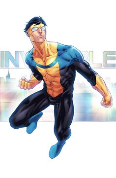 Yellow month - Invincible by Eddy-Swan-Colors on DeviantArt Comic Book Characters, Marvel Characters, Comic Character, Comic Books Art, Comic Art, Character Design, Best Superhero, Superhero Design, Invincible Comic