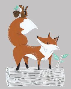 Fox & Chipmunk