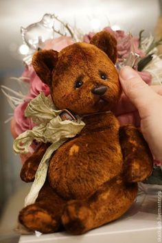 Мишки Тедди ручной работы. Ярмарка Мастеров - ручная работа. Купить Коржик. Handmade. Коричневый, коллекционный мишка, плюш
