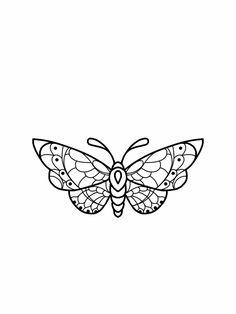 Moth tattoo flash design