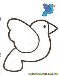vogel met monster Kleurplaten | KLEURPLATEN MET VOORBEELDEN | Tekening van een vogel met sample paint | kleurplaten.8a8.co