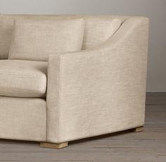 8' Belgian Classic Slope Arm Upholstered Sleeper Sofa