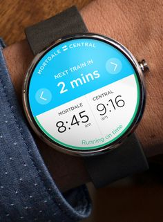 Trip Planner - Android Wear #androidwear #googleos #moto360 #smartwatch #uidesign #concepts #iwatch