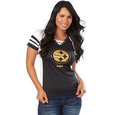 Pittsburgh Steelers Women's More Than Enough T-Shirt - Black