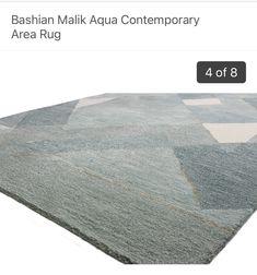 Contemporary Area Rugs, Modern Contemporary, Carpet Flooring, Coastal, Aqua, Home Decor, Water, Decoration Home, Room Decor