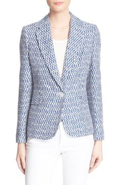 Helene Berman One-Button Jacquard Jacket available at #Nordstrom