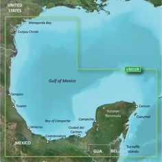 Garmin BlueChart® g2 Vision® HD - VUS032R - Southern Gulf of Mexico -. BlueChart® g2 Vision® HD - VUS032R - Southern Gulf of Mexico - microSD™/SD™Coverage:Covers the Gulf of Mexico from Matagorda Bay to Belize City, including Corpus Christi, TX, Veracruz, Mex., the Bay of Campeche, Cancun, Mex., and Cozumel, Mex.Premium Mapping and Graphics Capabilities Detailed nautical charts, in vector object oriented format, derived from government charts and private sources to provide port plans, depth…