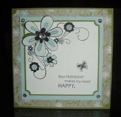 Fall Flowers Friendship using Stampin Up Friendship Blooms
