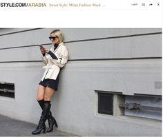 style.com/arabia feature from Milan Fashion Week  #acnestudios #hm #mobile #celineaagaard #filippak #celine #mfw #stylearabia #hippiehippiemilkshake