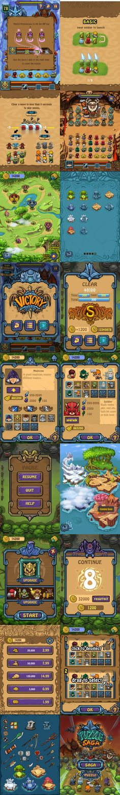 Puzzle Saga game art and ui