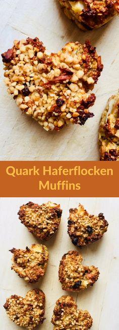 Quark Haferflocken Muffins super schnell und einfach zuzubereitet