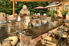 Custom Designed Outdoor Kitchen - we fabricate to your specifications...we'll even ship the grill and all the stainless...you just need to cook!