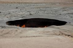 """Somewhere in the small town of Darvaz,Turkmenistan, there is a fire that has continued to burn for about 40 years now. The locals have given a name that could not be more apt: """"The Door to Hell."""""""