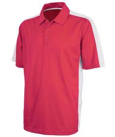 Charles River Apparel Style 3315 Men's Micropique Wicking Polo - SweatshirtStation.com #CharlesRiverApparel #redwhite #poloshirt