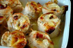 Rotolini di pollo e pancetta al forno