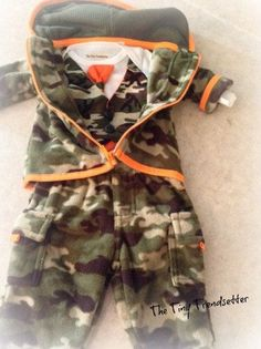 Baby Boy Camouflage 4 pc Outfit by TheTinyTrendsetter on Etsy