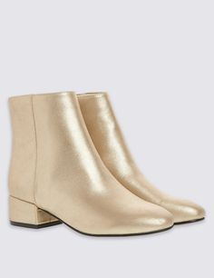 Mid Heel Ankle Boots with Insolia® | Marks and Spencer