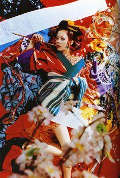 Sakuran/Designed by Mika Ninagawa Japanese Film, Japanese Geisha, Japanese Kimono, Japanese Art, Photography Women, Amazing Photography, Fashion Photography, Female Dragon, Dragon Lady