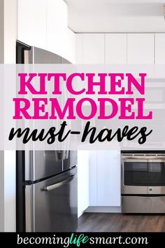 These are great ideas for a dream kitchen must-haves! I love all of the tips on how to do a kitchen remodel the right way. | kitchen appliance must haves | kitchen must-have gadgets | modern kitchen features | kitchen renovation| www.becominglifesmart.com