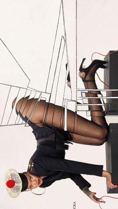 like for more : iconsbadgalriri Rihanna Vogue, Stockings, History, Fashion, Socks, Moda, Historia, Fashion Styles, Fashion Illustrations