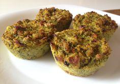 Muffins salados de brócoli con quinoa                                                                                                                                                     Más