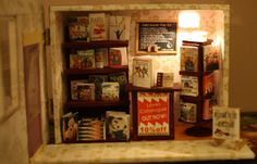 Newsagent Miniature Houses, Miniatures, Frame, Furniture, Home Decor, Picture Frame, Decoration Home, Room Decor, Home Furnishings