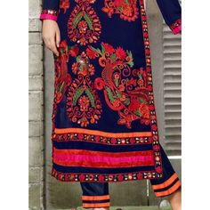 Shop Saara Navy Blue Embroidered Georgette Semi-stitched Salwar Suit by Saara online. Largest collection of Latest Salwar Suits online. ✻ 100% Genuine Products ✻ Easy Returns ✻ Timely Delivery