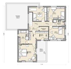 Massivhaus mit Flachdach: Beipielplanung 3 - jetzthaus