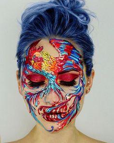 Artistic Face Paint Makeup Art Vanessa Davis The Skulltress Skull Makeup