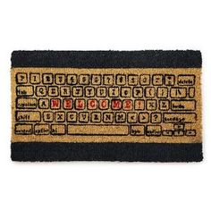 Look what I found at UncommonGoods: computer keyboard doormat.