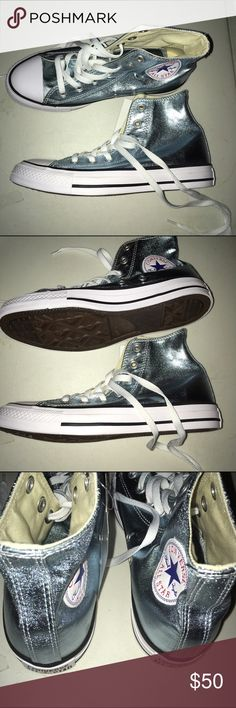 Converse Metallic Sneakers New In Box Size 12 Converse Metallic Sneakers New In Box Converse Shoes Sneakers