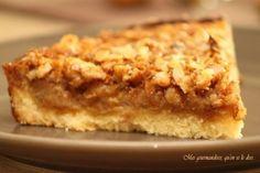 Tarte d'automne (pommes, noix, miel)