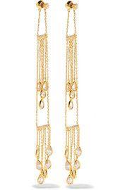 Noir JewelryZiggy gold-tone crystal earrings