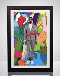 Kaws X Kanye West 808s Heartbreak 11x17 Music Poster Print Wall Art Graffiti Home Decor Yeezy Poster Prints Urban Wall Art Art