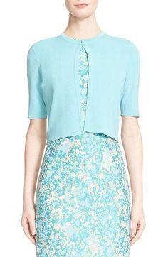Lela Rose Knit Crop Cardigan available at #Nordstrom