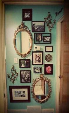 Frames and Mirrors. Insert geek art and photos in the frames, maybe a cool…