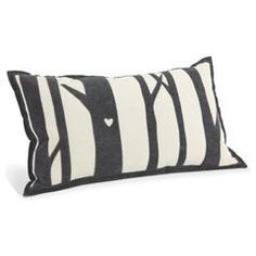 Love! Tree White & Charcoal Pillow - Room & Board