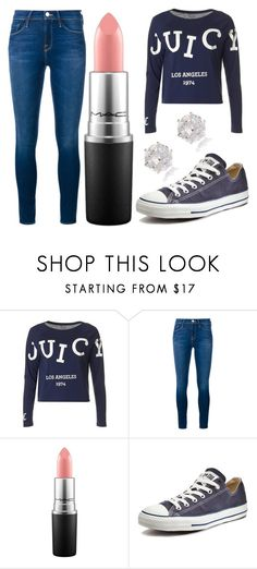 """""""Untitled #1270"""" by perbhaatkhowaja on Polyvore featuring Juicy Couture, Frame Denim, MAC Cosmetics, Converse, River Island, women's clothing, women, female, woman and misses"""