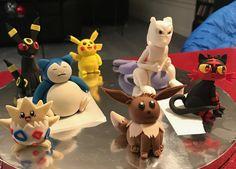 Pokémon fondant figures - Pikachu, Eevee,Snorlax,Mewtwo,Umbreon,Litten, and Togepi